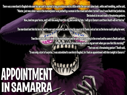 Appointment in Samarra Story - Artwork © Héctor Bustamante. All Rights Reserved