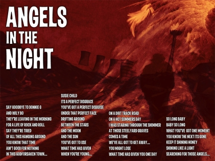 Angels In The Night Lyric Sheet - Artwork © Wily Bo Walker. All Rights Reserved