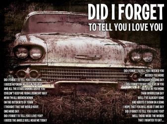 Did I Forget Lyric Sheet - Artwork © Wily Bo Walker. All Rights Reserved