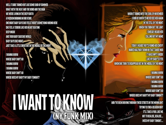 I Want to Know (NY Funk Mix) Lyric Sheet - Artwork © Zhana D'Arte, Héctor Bustamante. All Rights Reserved