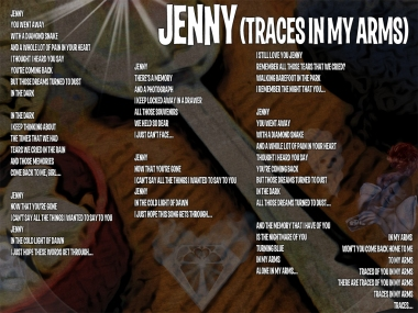 Jenny Lyric Sheet - Artwork © Wily Bo Walker. All Rights Reserved