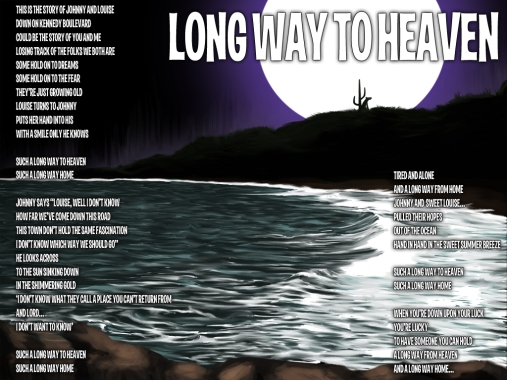 Long Way to Heaven Lyric Sheet - Artwork © Héctor Bustamante. All Rights Reserved