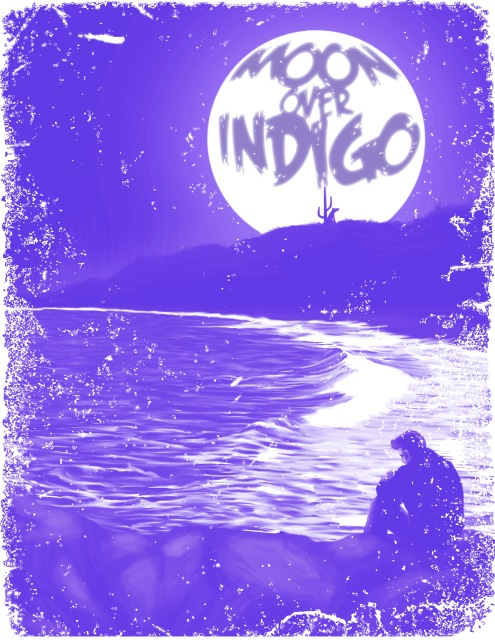 Moon Over Indigo Alternative Poster © Héctor Bustamante. All Rights Reserved