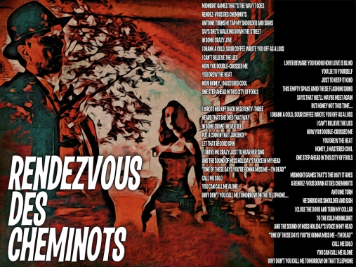Rendezvous des Cheminots Lyric Sheet - Artwork © Wily Bo Walker. All Rights Reserved