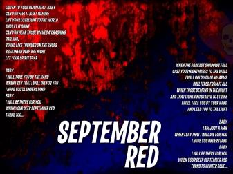 September Red Lyric Sheet - Artwork © Wily Bo Walker. All Rights Reserved