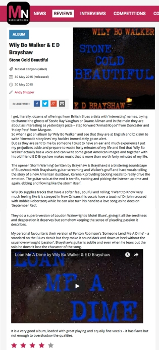 Stone Cold Beautiful_Music News Review
