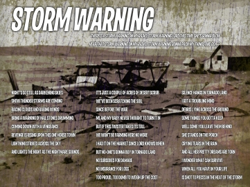 Storm Warning Lyric Sheet - Artwork © Wily Bo Walker. All Rights Reserved