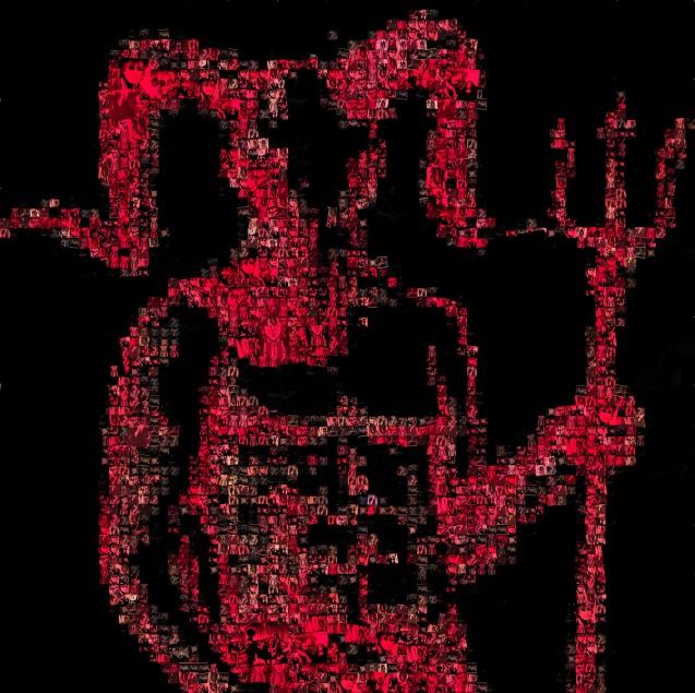 Wily Bo Walker Devil Mosaic - Artwork © Wily Bo Walker. All Rights Reserved