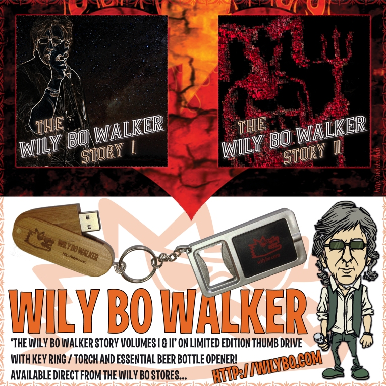 The Wily Bo Walker USB Keyring - Artwork © Nukui Bogard, Wily Bo Walker. All Rights Reserved