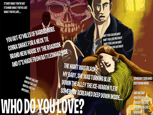 Who Do You Love Lyric Sheet - Artwork © Héctor Bustamante. All Rights Reserved