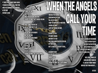 When The Angels Call Your Time Lyric Sheet - Artwork © Héctor Bustamante. All Rights Reserved