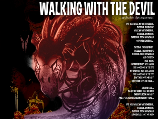 Walking With The Devil Lyric Sheet - Artwork © Zhana D'Arte, Héctor Bustamante. All Rights Reserved