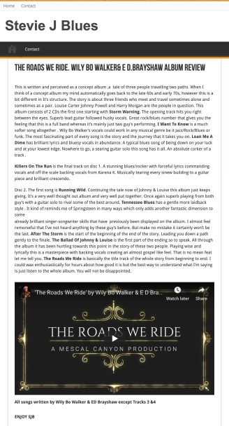 Stevie J Harrison Review of TRWR_APRIL 2019